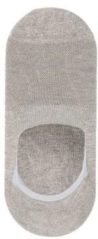 Pantherella Footlet Cotton-blend Socks - Grey