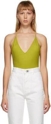 Bottega Veneta Green Cashmere Bodysuit