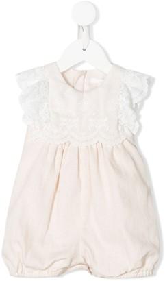 Chloé Kids Lace Trim Bodysuit
