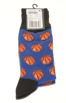 Hot Sox Men's Basketball Slack Crew Casual Sock