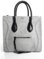 Celine Light Gray Wool Felt Phantom Top Handle Tote Bag EVHB