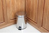 ZnzbztStainless steel stepbin 3L5L7L12 l foot European-style home with cover trash wc kitchen living room, master bedroom suites parachute 5L+12L combination