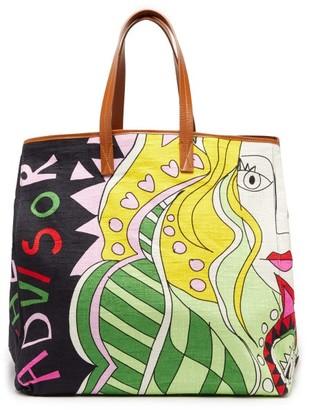La DoubleJ Big Mama Athena Canvas And Leather Tote Bag - Womens - Multi