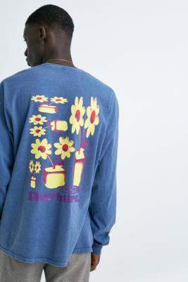 Urban Outfitters Nurture Blue Long-Sleeve T-Shirt - blue XS at