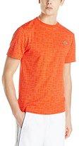 Lacoste Men's Sport Short Sleeve Ultra Dry Geometric Printed T-Shirt