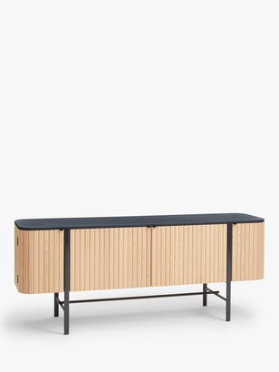 John Lewis & Partners Reed Sideboard, Natural/Black