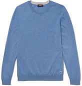 HUGO BOSS Leno Virgin Wool Sweater - Blue