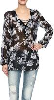Alythea Black Floral Top