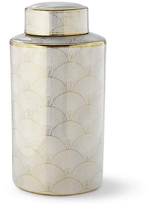 Williams-Sonoma Gold Printed Jar, Fan