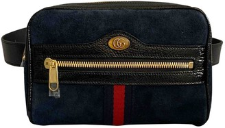 Gucci Ophidia Black Suede Clutch bags