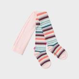 Paul Smith Girls' 2-6 Years 'Pastel-Stripe' Glitter Tights