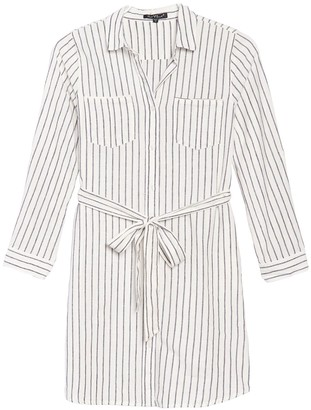 Velvet Heart Anita Roll Sleeve Stripe Dress