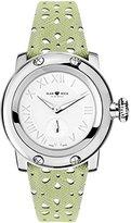 Glam Rock Women's summerTime 40mm Green Leather Band Steel Case Swiss Quartz White Dial Watch GR40421
