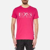 Boss Hugo Boss Large Logo Tshirt - Pink