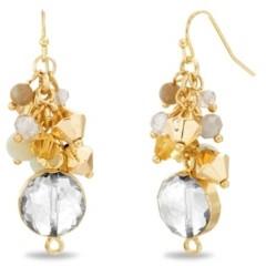 Catherine Malandrino Women's Beaded Cluster Drop Earrings