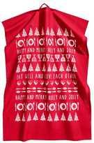 H&M Christmas-motif Tea Towel - Red