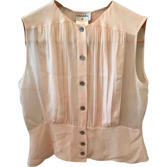 Chanel Pink Silk Top for Women Vintage