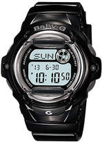 Baby-G Women's Digital Black Resin Strap Watch 46x43mm BG169R-1