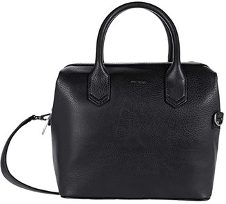 Matt & Nat Beige Dwell (Black) Satchel Handbags