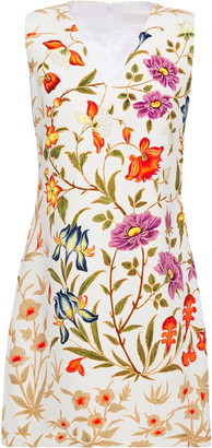 Peter Pilotto Floral-print Stretch-crepe Mini Dress