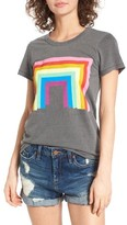 Junk Food Clothing Women's Donald Robertson Rainbow Tee