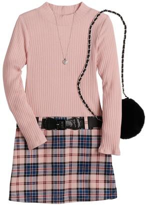 Knitworks Girls 7-16 & Plus Size Knit Works Marsha Dress & Purse Set