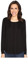 NYDJ Haley Pleated Top Women's Clothing