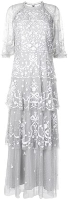 Needle & Thread Bonnie Bow embroidered gown