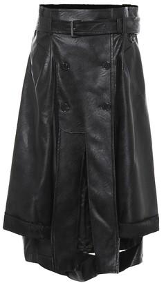 Maison Margiela Faux leather midi skirt