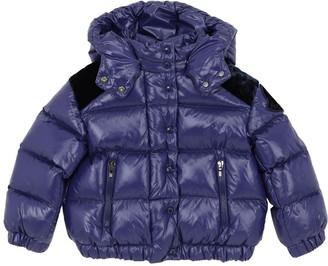 Moncler Chouette Nylon Down Jacket W/ Velvet
