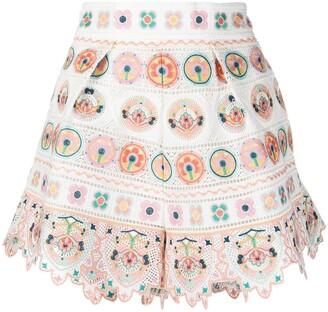 Zimmermann Printed Mini Skirt