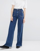 Dr. Denim Bisset Wide Leg High Waist Jeans