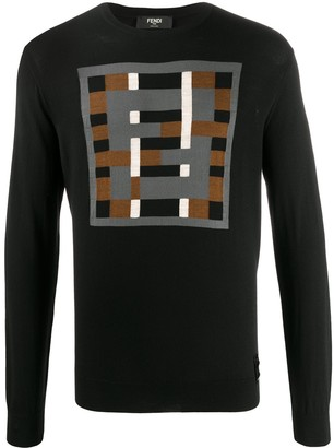 Fendi geometric FF crewneck jumper