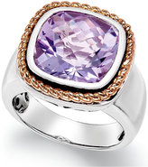 Macy's Amethyst Pendant Ring (6 ct. t.w.) in 18k Rose Gold and Sterling Silver