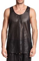 Giuseppe Zanotti Zippered Leather Tank Top