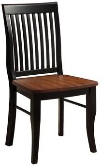 Hokku Designs Pedrina Slat Back Side Chair in Antique Oak/Black