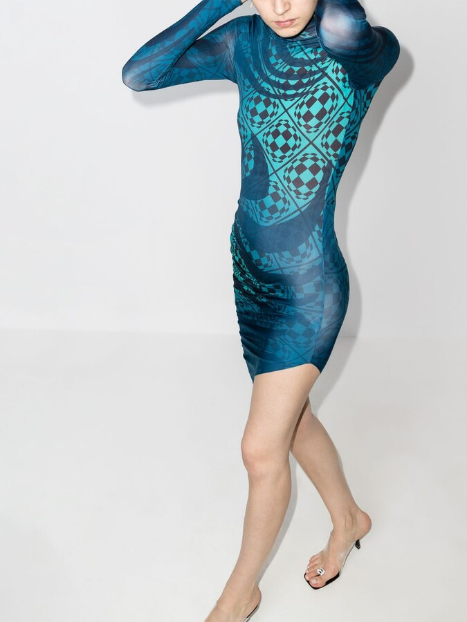 Thumbnail for your product : MAISIE WILEN Blue Orbit City Printed Dress