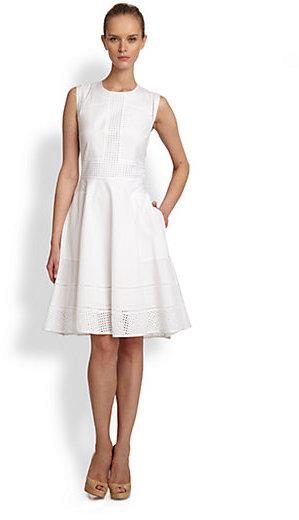 Rachel Roy Eyelet Lace Detail Dress