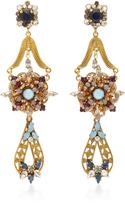 Erickson Beamon Wild Flower Crystal Drop Earrings