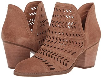 Frye Allister Feather Bootie (Pecan Suede) Women's Pull-on Boots