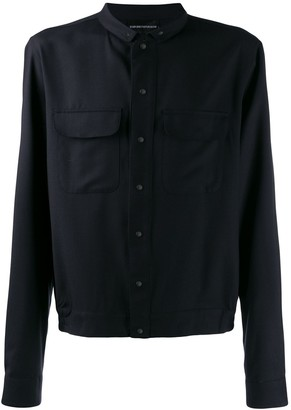 Emporio Armani relaxed-fit shirt jacket