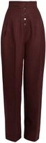 Stella McCartney Fabienne high-rise wide-leg wool trousers