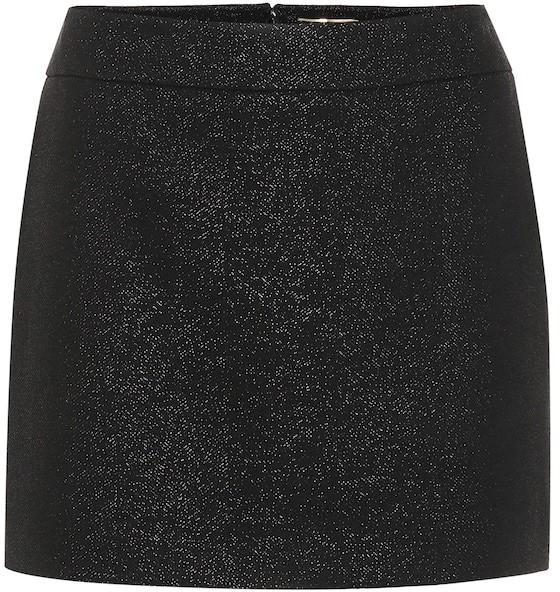 Saint Laurent Wool-blend miniskirt