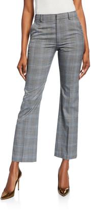 ADEAM Glen Plaid Tailored Cigarette Pants