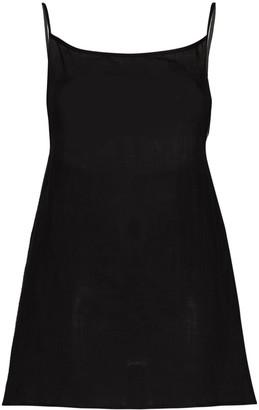 Anémone square neck slip dress