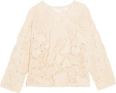 See by Chloe Crocheted Cotton Sweater - Cream