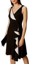 Karen Millen Mercurial Satin Collecti Dress, Black/Multi