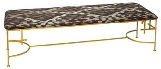 Worlds Away Upholstered Bench Color: Gold
