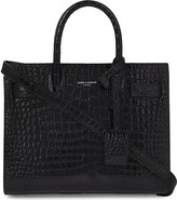 Saint Laurent Nano Sac De Jour faux-croc leather tote