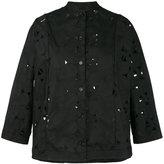 Aspesi perforated detail jacket - women - Cotton/Polyester - 40
